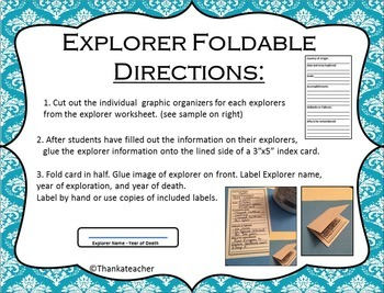 Explorer Easy Prep Foldable For Use with Any Explorer Unit Great for Homeschools