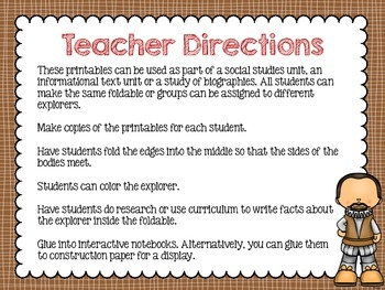 Explorer Foldables for Interactive Notebooks