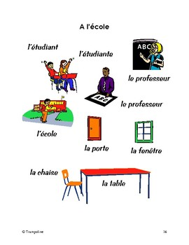 Explorer French Learning Program - Pas IV: A l'Ecole