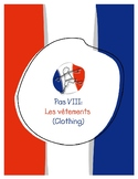 Explorer French Learning Program - Pas VIII: Les Vêtements