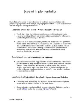 Explorer German Program - Instruction Manual