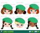 Explorer Girls, Scout Girl, Clip art Camping Digital Kids, Green Sashes