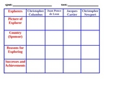 Explorer Grid Graphic Organizer