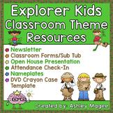Explorer Kids Classroom Theme Resources Bundle