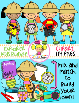 Explorer Kids Clipart Bundle