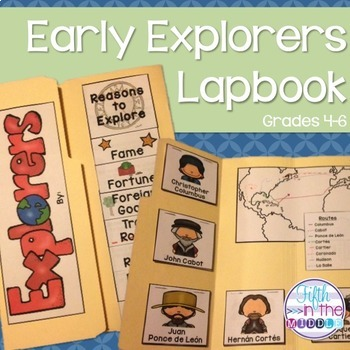 Early Explorers in America Lapbook/Interactive Notebook for Upper Elementary