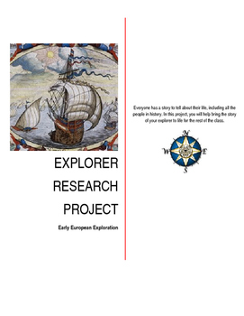 Explorer Research Project-Grades 4 - 8