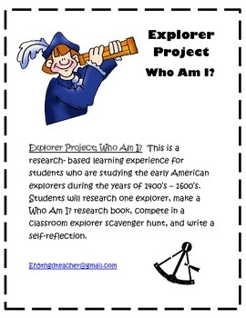 Explorer Project: Who Am I? research based student make book