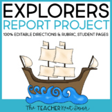 Explorer Report Project for 3rd - 6th Grade