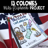 Distance Learning: 13 American Colonies Mini Flipbook Rese