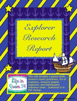 Explorer Research Report {Graphic Organizer}