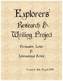 Explorer Research and Writing Project