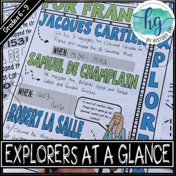 Explorers at a Glance Doodle Notes