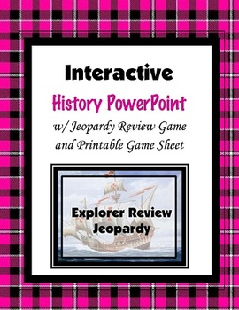 Explorer Review Jeopardy (PowerPoint)