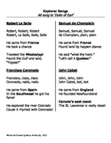 Explorer Songs-Robert La Salle, Samuel de Champlain, John Cabot & Coronado