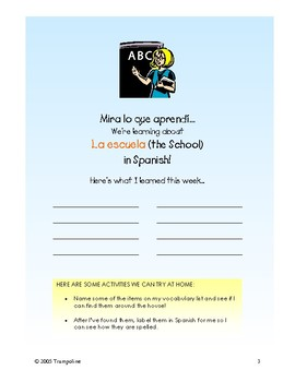 Explorer Spanish Learning Program - Paso IV: En la Escuela