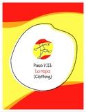 Explorer Spanish Learning Program - Paso VIII: La Ropa