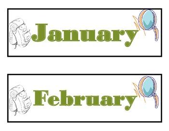 Explorer Calendar! Explorer Bulletin Board! Explorer Theme Classroom!
