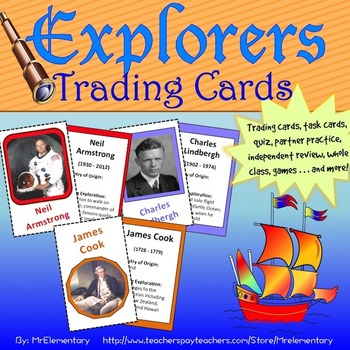 Explorers Trading Card Activities