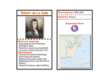 European Explorers Trading Cards with Routes