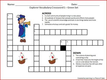 Explorer Vocabulary Pack