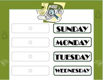 Explorer Weekday Chart! Explorer Bulletin Board! Explorer Theme Classroom!