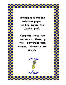 Explorer Woody Writes Set- Creative Writing Activity Cards {Set of 18}