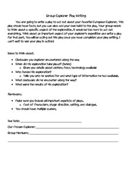 Explorer Writing Packet