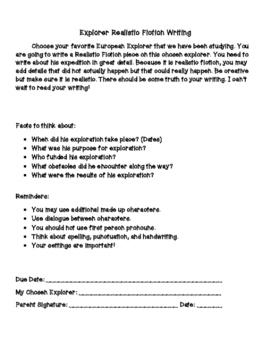 Explorer Writing Packet