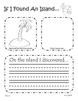 Explorer Writing Prompts - Columbus Day activity