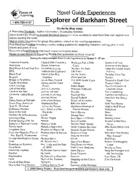 Explorer of Barkham Street Literature Guide