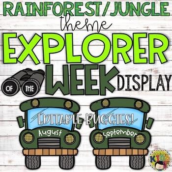 Explorer of the Week Display with Editable Buggies