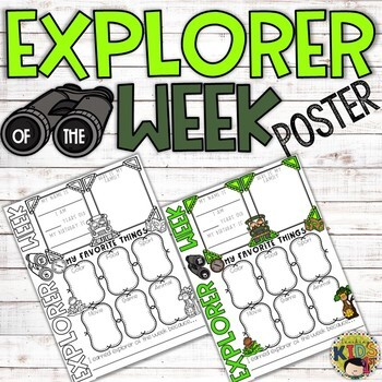Explorer of the Week Poster {Rainforest/Jungle Theme}