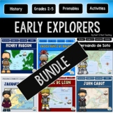 Early Explorers Bundle #1: Hudson, Balboa, Cartier, Leon, Cabot, Columbus
