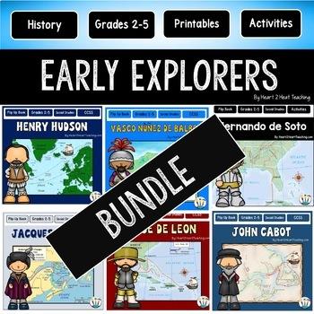 Early Explorers Bundle #1: Hudson, Balboa, Cartier, Leon, Cabot, Columbus