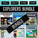 Early European Explorers BUNDLE: Hudson, Cartier, Balboa, Cabot, Columbus