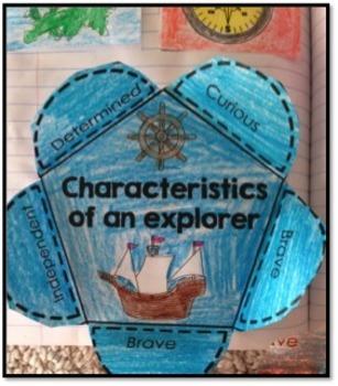 Explorers - Social Studies Interactive Notebook & Worksheets