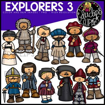 Explorers 3 Clip Art Bundle {Educlips Clipart}