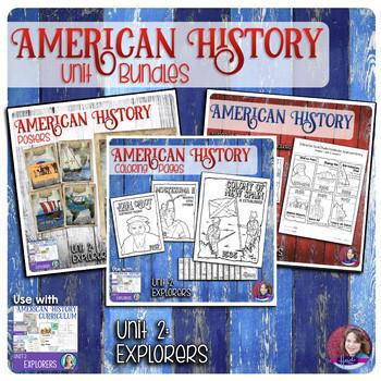 Explorers Activities Bundle - US History