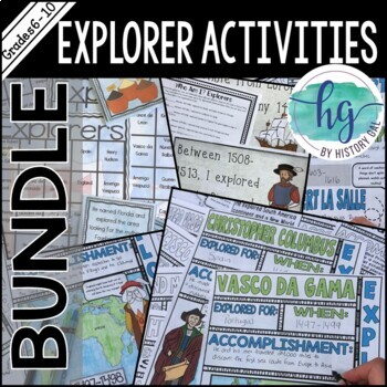 Explorers Activity Bundle