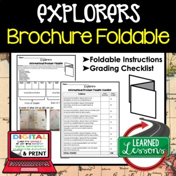 Explorers Activity, Exporers Foldable
