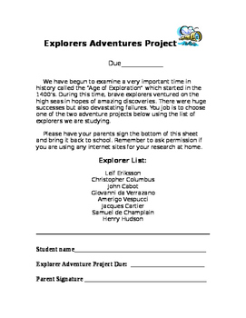 Explorers Adventure Project