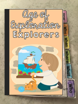 Guided Social Studies: Explorers Age of Exploration 5W's and How