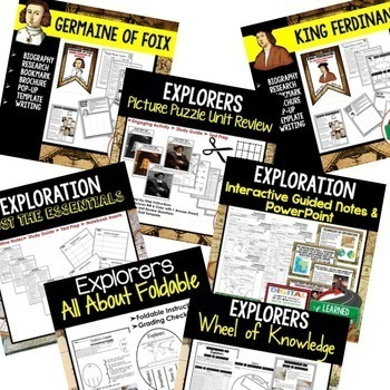 Explorers BUNDLE (World History Bundle)