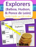 Explorers Study Guide with QR Codes {Balboa, Hudson, Ponce de Leon}