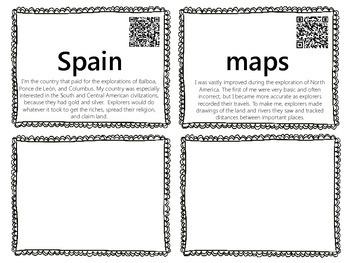 Explorers Word Wall with QR Codes {Balboa, Hudson, Ponce de Leon}
