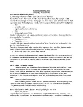 Explorers Choice Project/ Unit Grade 4-5