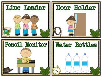 Explorers Club Themed Classroom Jobs Display & Clip Chart