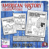 13 Colonies Coloring Activities - US History