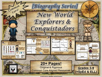 Explorers & Conquistadors of the New World Mini-Book Resea